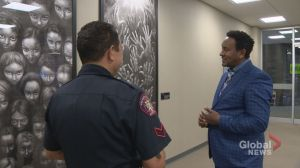 Calgary artist hopes exhibit promotes good relations between police and immigrant communities