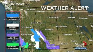 Wind warnings in place in southern Alberta