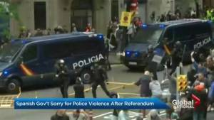 Spanish government apologizes for police violence during Catalan referendum