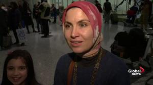 Landed immigrant from Syria shows support to Syrian refugees