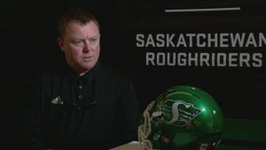 Riders head coach Chris Jones in Banff