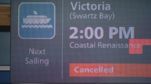 BC Ferries cancels more sailings after vessel damaged in wind storm