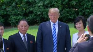 Trump ends historic meeting with North Korean officials by walking them to car