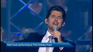 Matt Dusk performing at TSO Holiday Pops