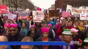 Hundreds in Saskatoon show solidarity with Women's March on Washington