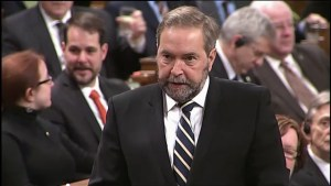 Mulcair: Let's not be driven by fear