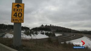 Edmonton changes to 'suggested' speed limits on exit ramps