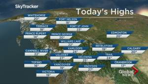 B.C. evening weather forecast: Jun 22