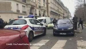 Emergency responders tend to shot policeman in Paris