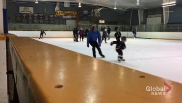 Families enjoy final skate at Millbrook Arena - Peterborough