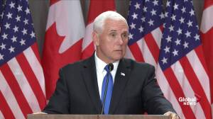 Pence says U.S. won't withdraw extradition request for Huawei CFO as 2 Canadians remain detained