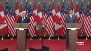 Pence, Trudeau jointly defend new NAFTA negotiations, confident on ratification