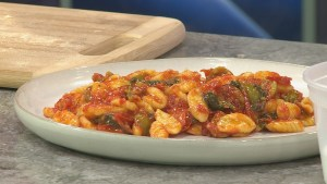 Recipe: Olives and greens in 'Angry sauce'