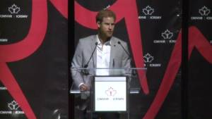 Prince Harry reads emotional letter from veteran's wife at conference on mental health