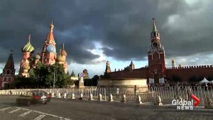 Time-lapse video shows multitude of fans touring sites in Moscow ahead of World Cup