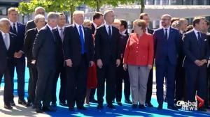 President Trump pushing NATO on terrorism during meeting in Belgium