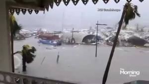Hurricane Irma leaves a trial of destruction in the Caribbean