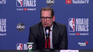NBA Finals: Nick Nurse says he 'really felt' for Durant