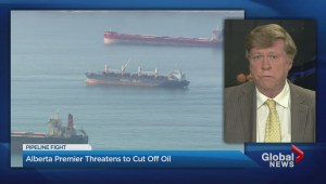 Alberta premier threatens to cut off oil to B.C.