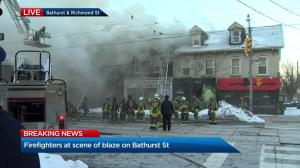Toronto Fire Chief provides update on scene of Bathurst St. blaze