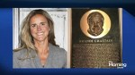 Who is that on Brandi Chastain's plaque?