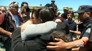 Relatives of Argentine sub crew react to news of possible explosion heard in area of vessel