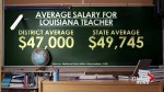 Louisiana teacher arrested at school board meeting won't face any charges