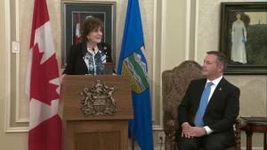 Lieutenant Governor of Alberta congratulates Premier-designate Kenney