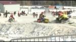 Snowmobiler races for Autism awareness