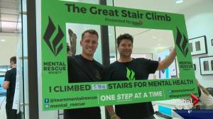 Edmonton firefighter completes the great stair climb