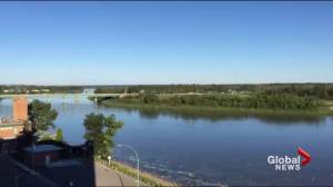 Water being pumped from Little Red River to Prince Albert for pre-treatment
