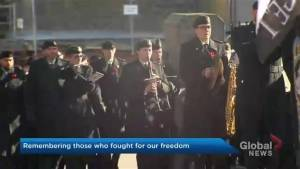 Large crowd packs Halifax's Grand Parade for Remembrance Day (01:40)