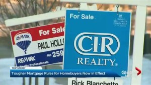 Tougher mortgage rules for home buyers now in effect