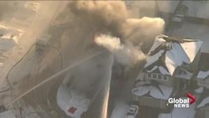 Fire crews battle blaze at Sherwood Park home