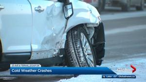 Dozens of crashes as extreme cold grips Edmonton region