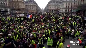 'Yellow vest' protesters hold moment of silence for Strasbourg victims