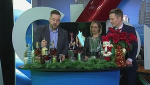 Bartender Ray Burton makes holiday music cocktails