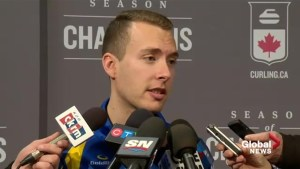Brendan Bottcher speaks about advancing to Tim Hortons Brier final