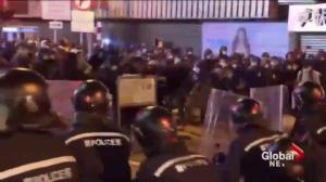 Hong Kong Lunar New Year celebration turns into clash with police over street food