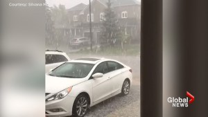 Thunderstorm brings heavy rain, hail and flash floods to GTA on Friday evening