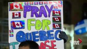 Calgarians rally for Quebec shooting victims