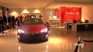 Hype and excitement in B.C. as first affordable Tesla hits the market