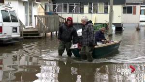 Quebec Flooding: Frustrations mounting at Île-Bizard trailer park