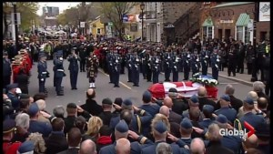 Hundreds attend Quebec fallen soldier funeral procession