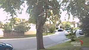 Calgary shooting caught on doorbell camera