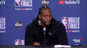 NBA Finals: Kawhi talks final moment, says he's not sure he could've made final shot