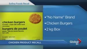 Sofina Foods chicken recall