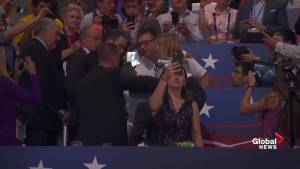 Protester arrested during Donald Trump's speech at Republican National Convention