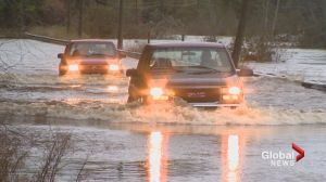 Skyline Acres residents say sound barrier causing flooding