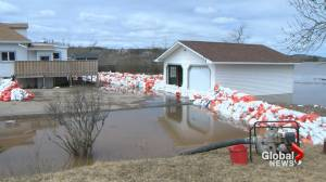 Flood waters peak in Saint John